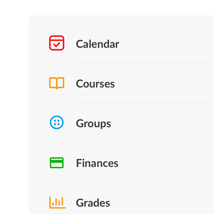 Courses grades and finances at their fingertips